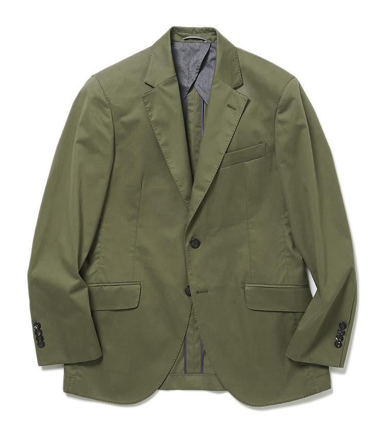 <b>3.ハケット ロンドンのカーキジャケット</b><br />1と2のセットの色違い。サヴィル・ロウ仕込みのハケット ロンドンは、カジュアルなジャケットも雰囲気がある。こちらはシックなカーキが日常使いしやすい、コットンストレッチのセットアップスーツ。7万8000円(ヴァルカナイズ・ロンドン)