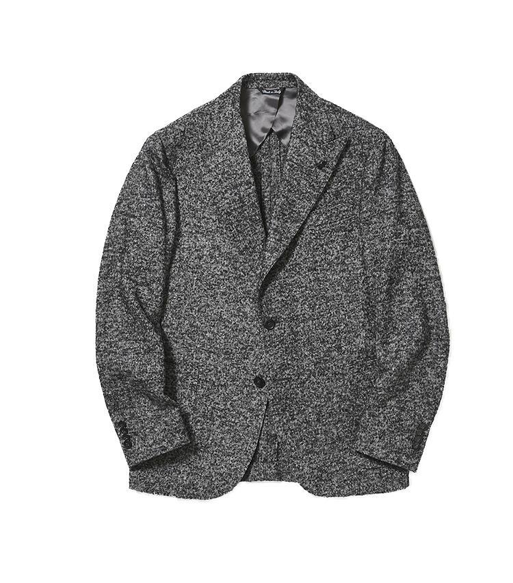 <b>4.パルテノペのグレージャケット</b/><br />有名ブランドのスーツを手掛けてきたナポリブランド。温かみのあるグレーのメランジジャケットは、ナポリらしい洗練されたシルエットでシャープに着こなせる。9万2000円(バーニーズ ニューヨーク カスタマーセンター)