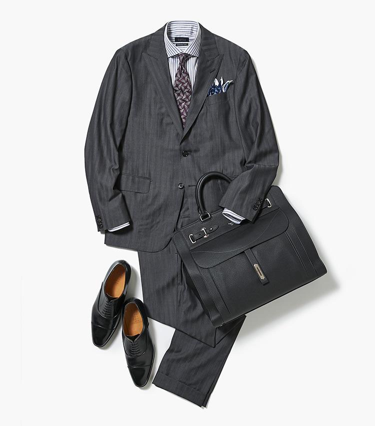 今どきグレースーツスタイルはこうつくる【スーツの着回し1週間チャレンジ!/バーニーズ ニューヨーク編#2】