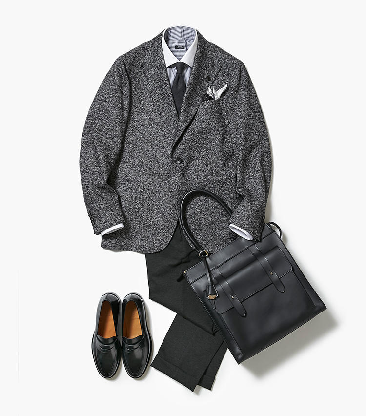 センスのいいモノトーン、ここにあります【スーツの着回し1週間チャレンジ!/バーニーズ ニューヨーク編#3】