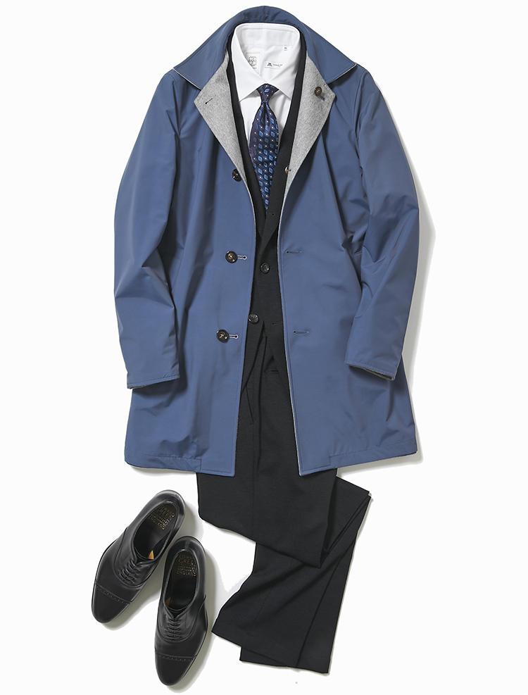 スーツ×コートスタイル