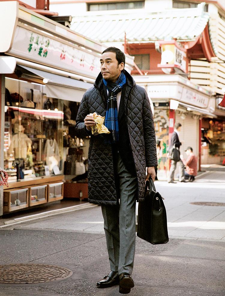 ラベンハムのコートを着たモデル