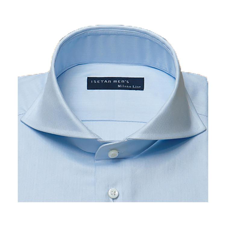<b>オススメの襟型</b><br>定番として人気のワイドカラー。ラペルへの襟先の収まりも綺麗。