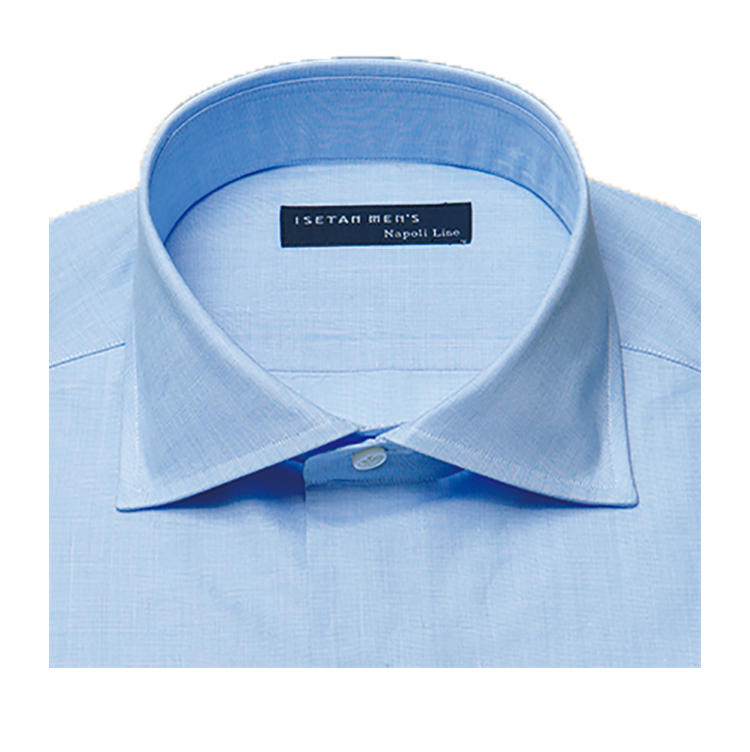 <b>オススメの襟型</b><br>襟元がシャープで引き締まって見えるショートワイドが人気。