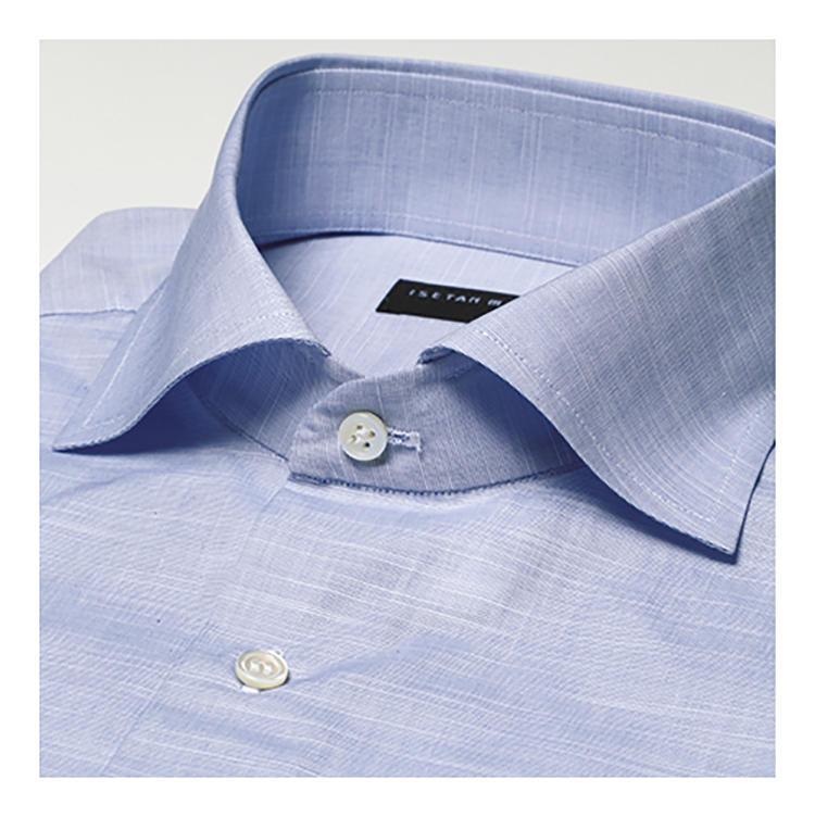 <b>スタイルの特徴</b><br>マシンによる端整な仕立てが特徴。襟やカフスの芯地が非常に柔らかく、特に襟ロールの美しさでは群を抜く。1万5000円〜。