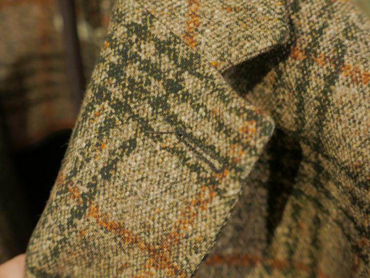 これだけ寄って見ても、まだ織りのよう! 恐るべし転写プリント技術!