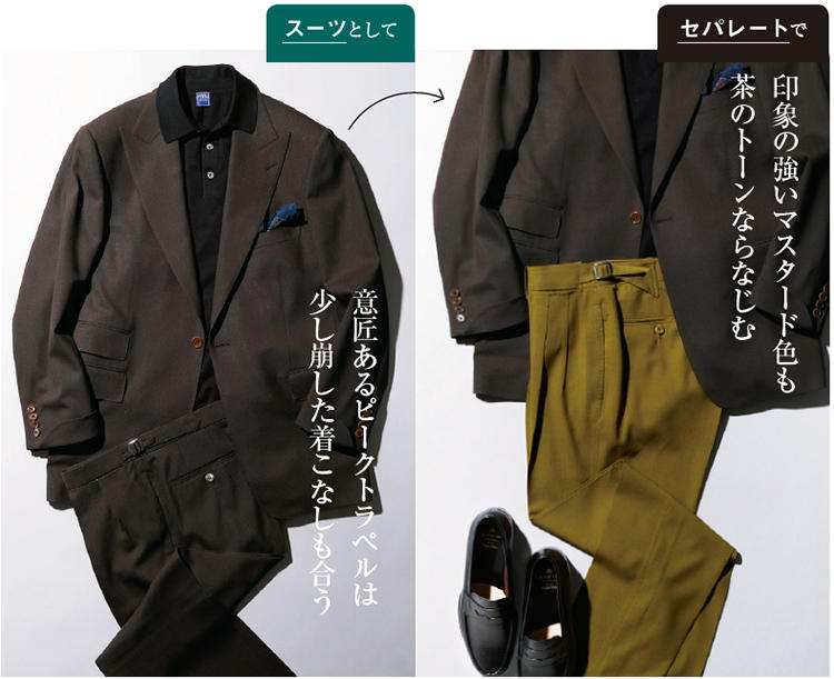 リッドテーラーのシングルピークトスーツ
