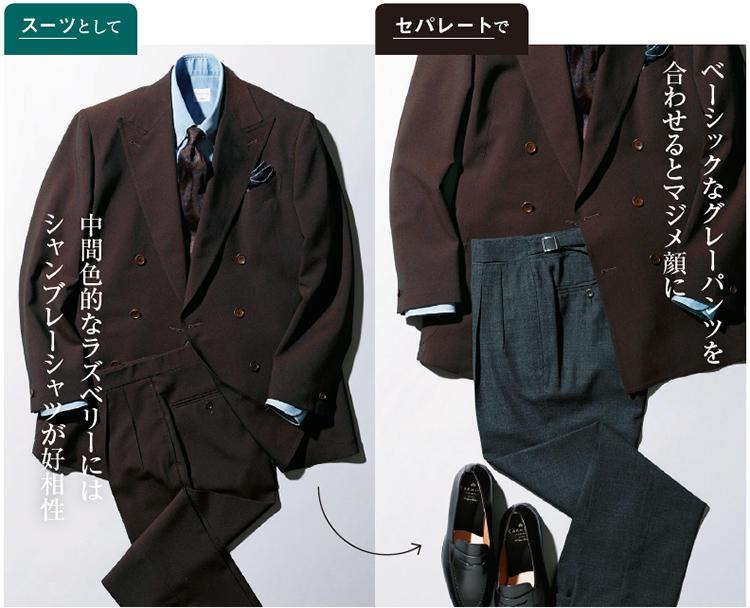 ラ・スカーラのダブルブレステッドスーツ
