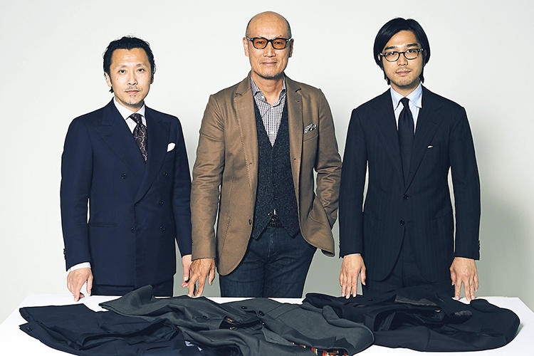 ファッションジャーナリスト 矢部克已さん ファッションディレクター 森岡 弘さん MEN'S EX 副編集長 小曽根広光