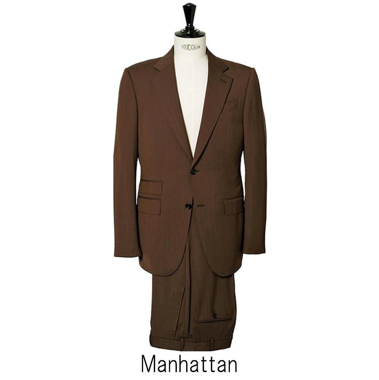 「マンハッタン」は構築的な肩周りが特徴のモデル。ラペル幅が広めで、貫禄のある表情だ。