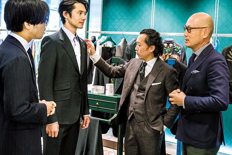 MEN'S EX 副編集長 小曽根広光、ファッションジャーナリスト 矢部克已さん、ファッションディレクター 森岡 弘さん