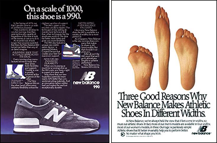 1982年ニューバランス「990」の広告