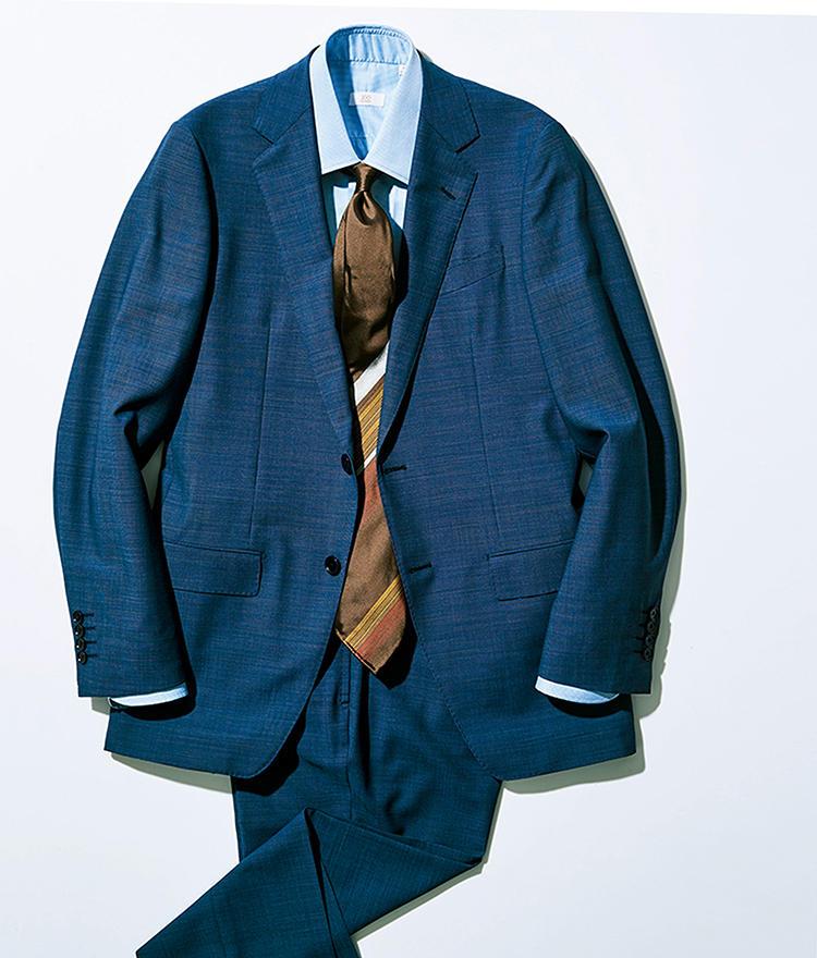 ドラゴの「ブルーフィール」の生地を使ったスーツ