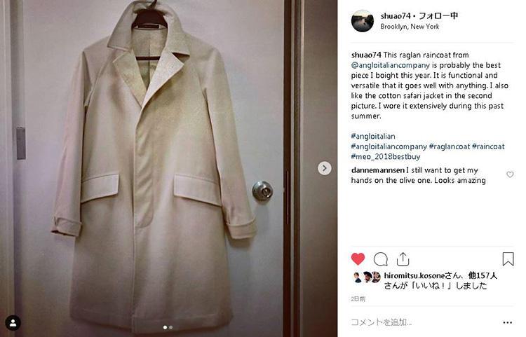 どんな服にも合わせやすく機能的な、「アングロイタリアン」のコート。シンプルなものこそ、長く愛用できます。
