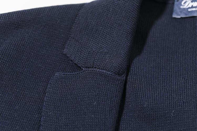 ミラノリブジャケットは、ラペル部分の目減らしも丁寧。