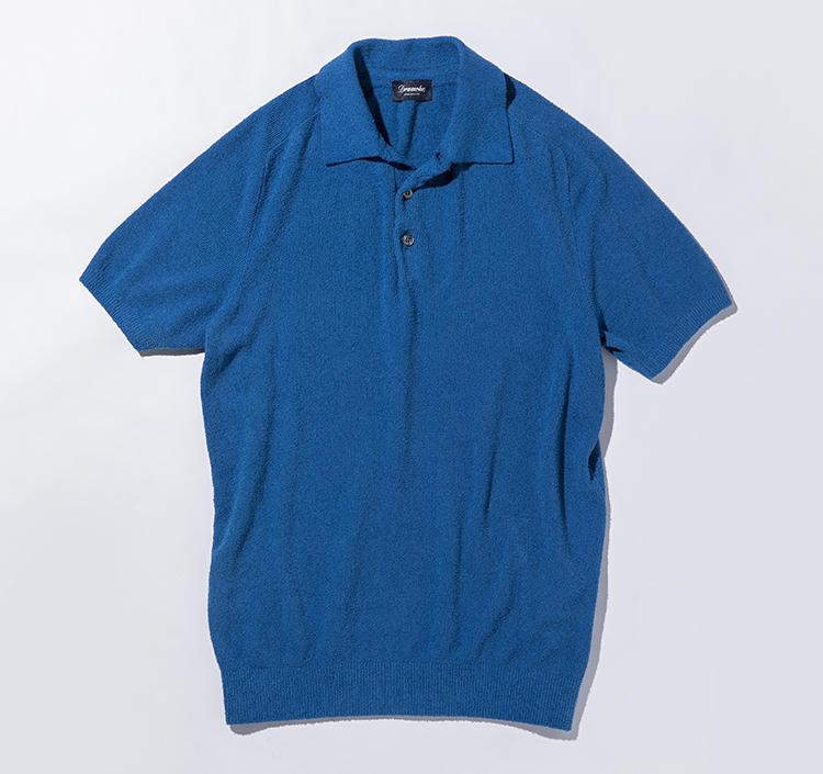 「スプーニャ」と呼ばれるパイル地ポロも人気。半袖パイルポロ2万9000円(バインドピーアール)