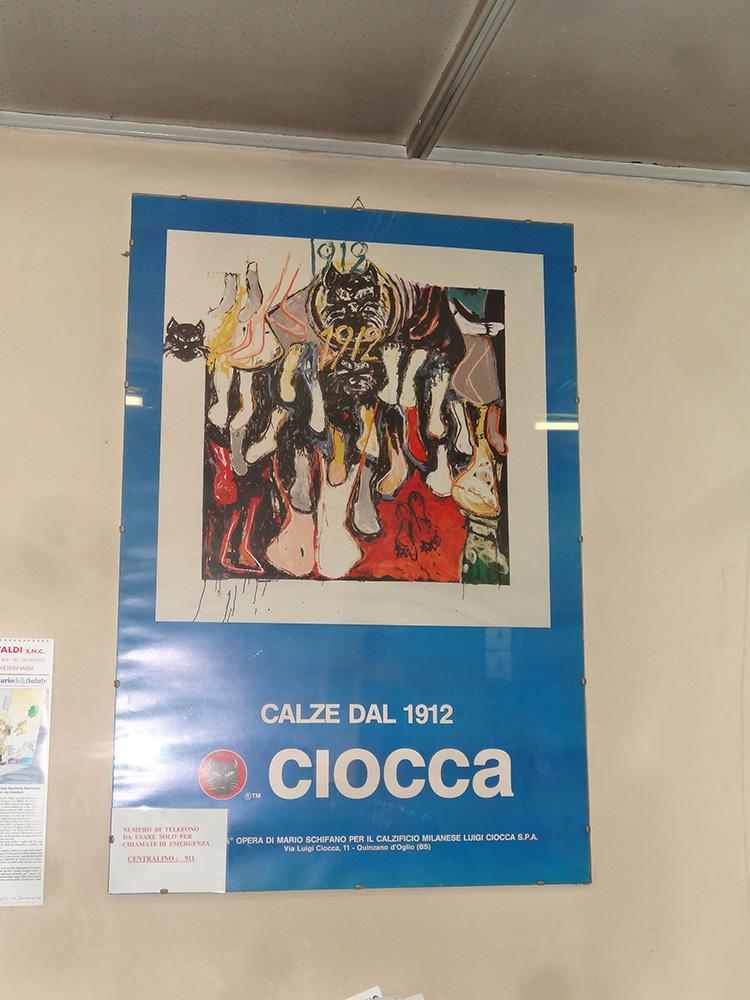 昔の「CIOCCA」社のポスター。