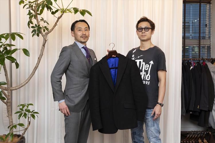 「齋藤服飾研究所」の齋藤秀明さんとブリフトアッシュ代表の長谷川裕也さん