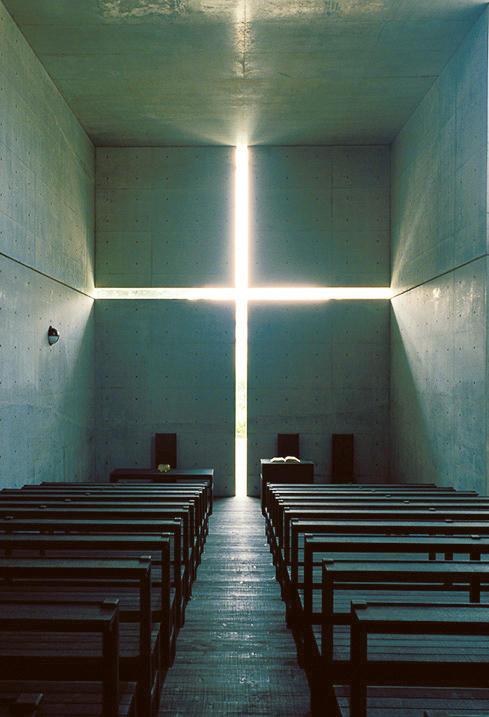 光の教会、1989、大阪府茨木市、撮影/松岡満男
