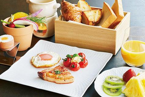 昼12時まで営業しているので朝食をゆっくり楽しめる。
