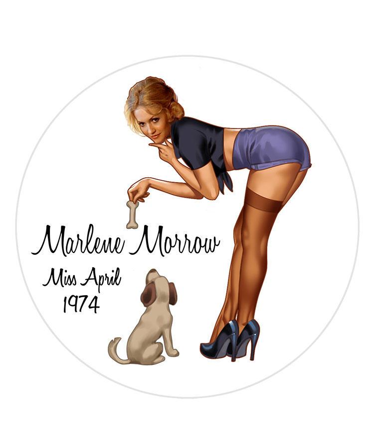 Marlene Morrow/Miss April 1974
