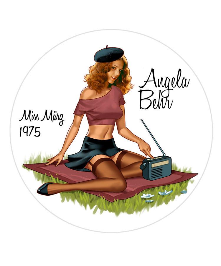 Angela Behr/Miss Merz 1975
