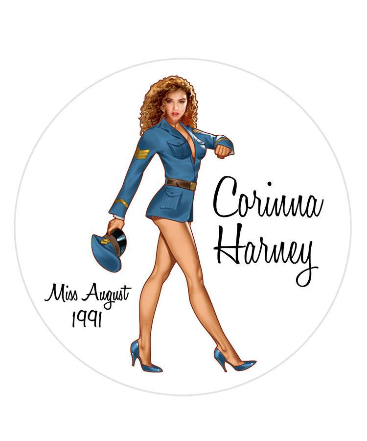 Corinna Harney/Miss August 1991