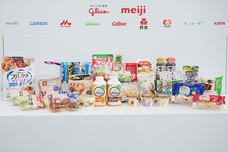 「ロカボマルシェ2017」参加企業の商品。