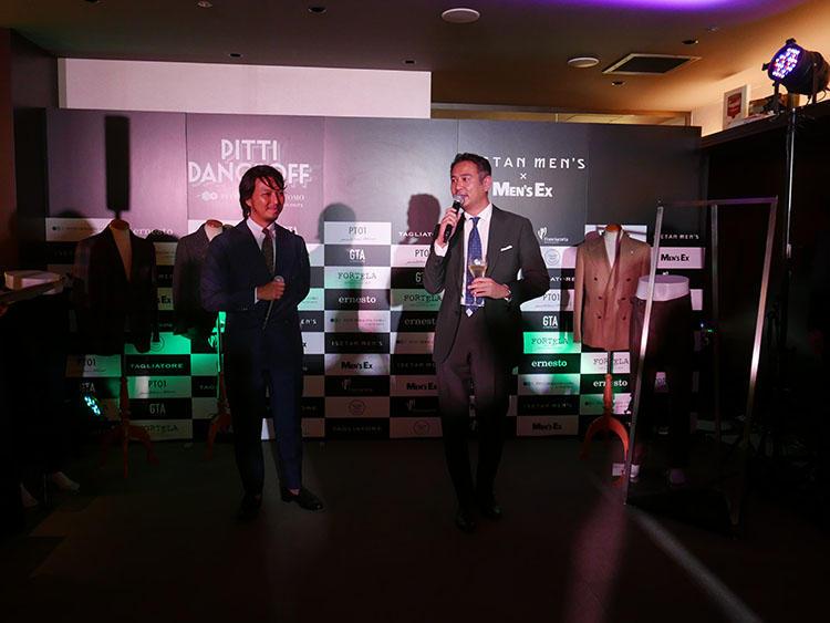 伊勢丹新宿店メンズ館バイヤー山浦氏(左)と編集長・大野(右)。「これほど豪華なメンバーが集まる機会はなかなかありません」(大野)