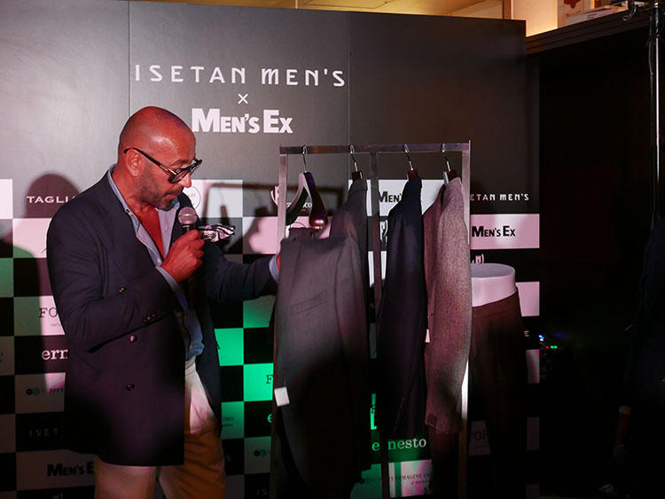 色気あるスーツ&ジャケットの提案が巧みな「タリアトーレ」も登場。