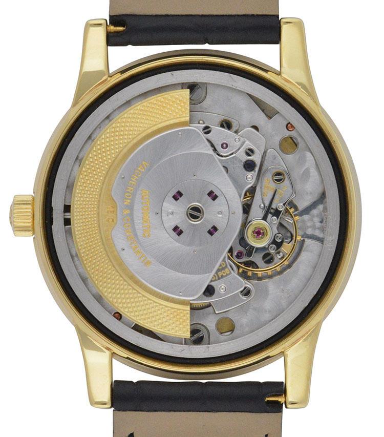 製造年:1966年、ケース素材:18Kイエローゴールド、ケースサイズ:35mm、3時位置に日付表示、6時位置に「TURLER」の文字、価格157万5000円