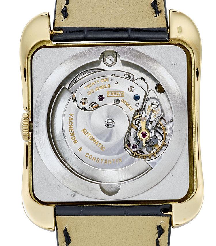 製造年:1957年、ケース素材:18Kイエローゴールド、ケースサイズ:縦43.5mm X 横35mm、自動巻き腕時計『トレド』、価格470万円