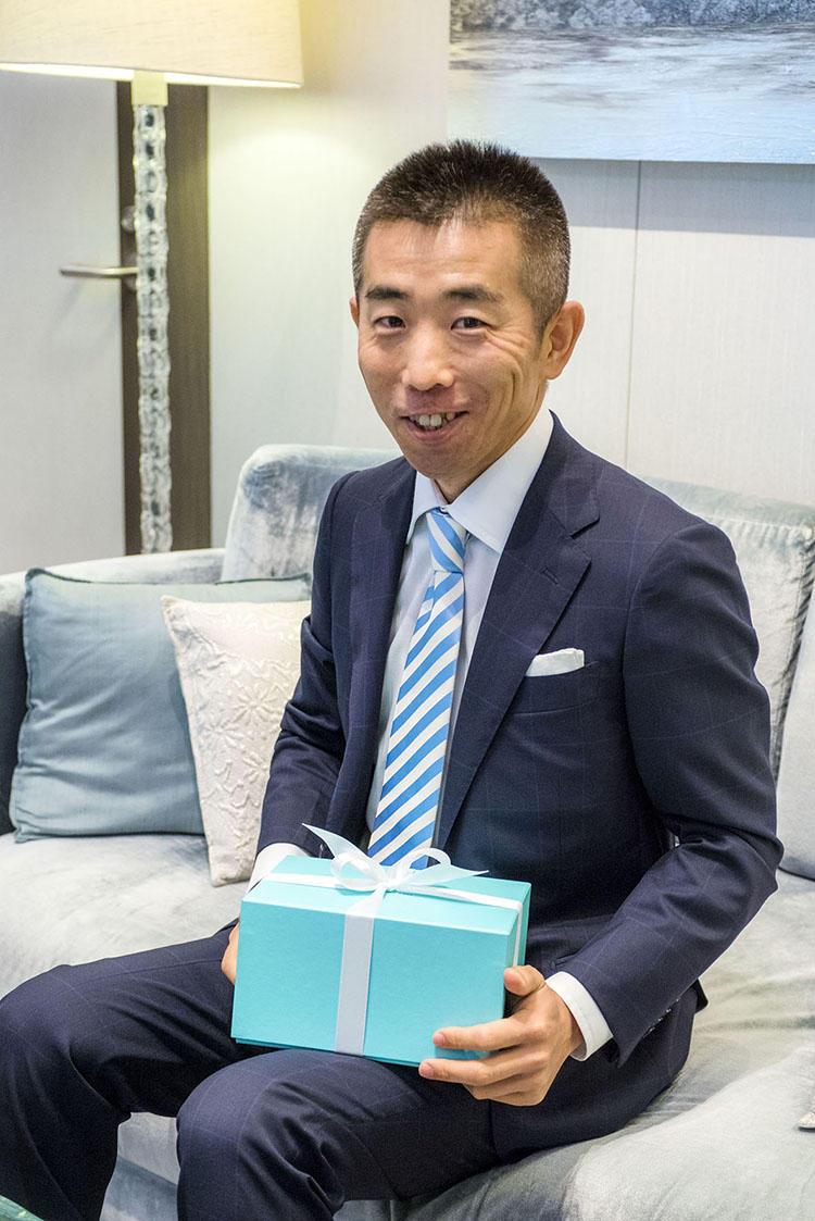 「素敵な誕生日プレゼントになりました」と大中さん。