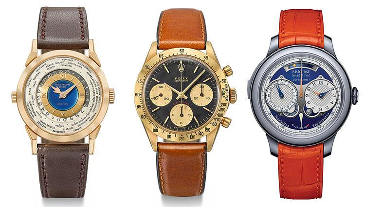 海外オークション出品予定のレアな腕時計