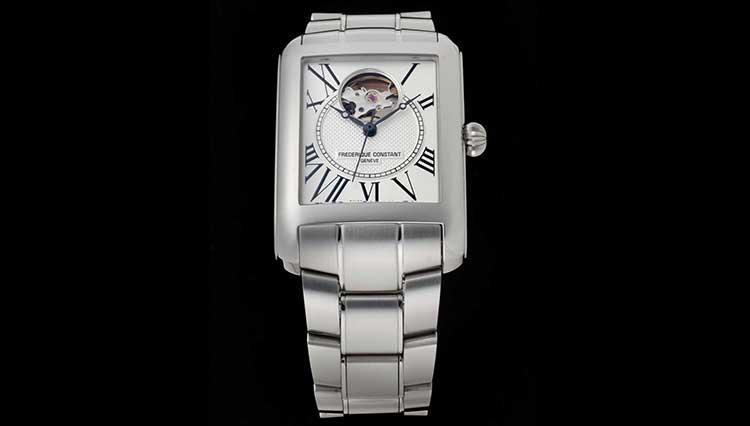 持っているのが丸い時計ばかりなら、フレデリック・コンスタントの角型ハートビートがおすすめ【BASEL2018新作】