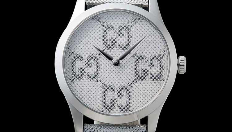 グッチのシグネチャー「GGロゴ」を腕時計にホログラムで3D演出!【BASEL2018新作】