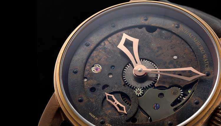 リアルエイジングで味出まくり! ドイツ時計のシャウボーグが描くスチームパンクの世界観【BASEL2018新作】