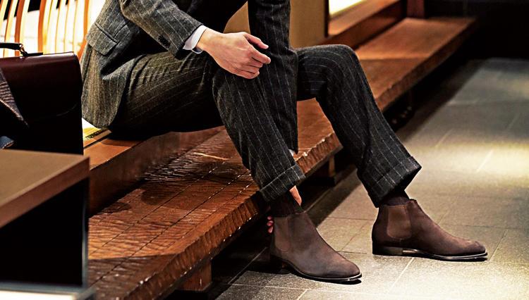 お座敷は「ショートチェルシー」でスマートに【今必要な本格靴決定版。】