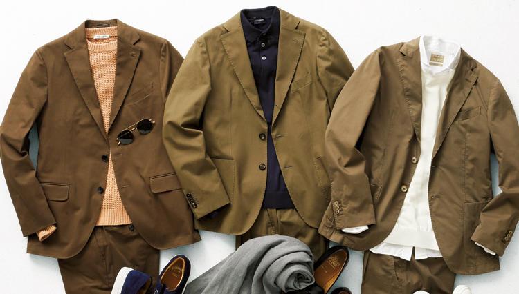 休日重視のコットンスーツ、汎用性が高いのは、どんな色?