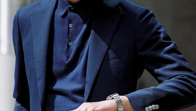 仕事でも使える「ポロシャツ×ジャケット」の色合わせはコレ!