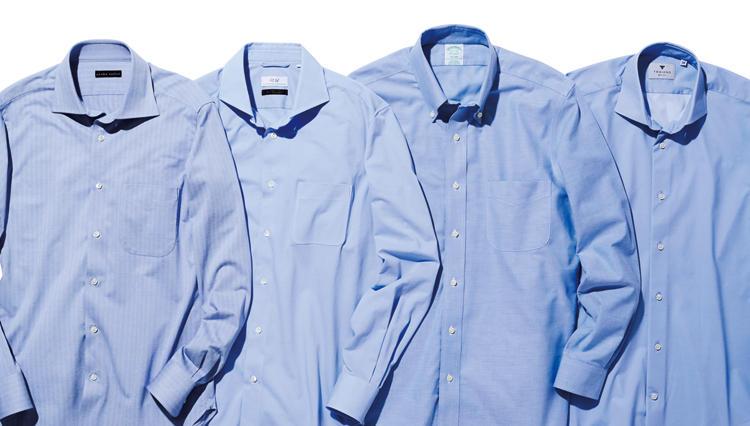 デニムパンツ通勤でも、きちんと見せるには? → 涼しいブルーのシャツを合わせよう