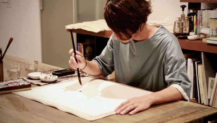 """趣味の極みは一流の仕事に通ず…エグゼの""""OFF道""""「水墨画」"""