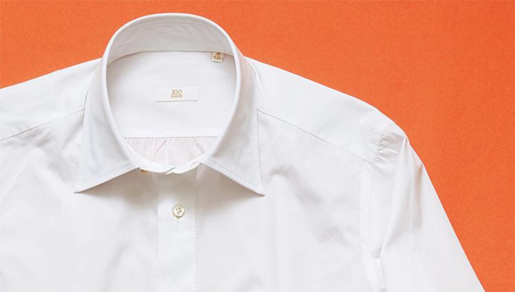 驚異の○ヶ所手縫いで極上の美しさ!「ハンドレッド ハンズ」のゴールドラインシャツ
