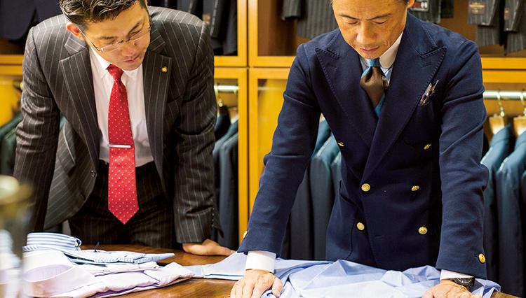 襟のココを見れば、上質なシャツか否かが分かります!【ビームス中村さんの上質レクチャー】