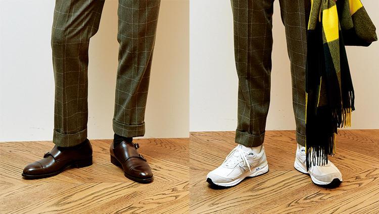 「VASS」と「NB」の靴で、同じスーツの印象はどれだけ変えられる?