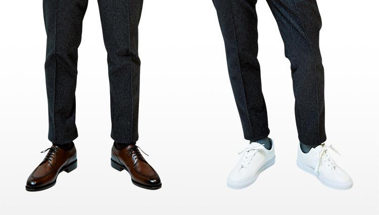 靴を変えて、「同じセットアップを違う印象に見せる」テクとは?