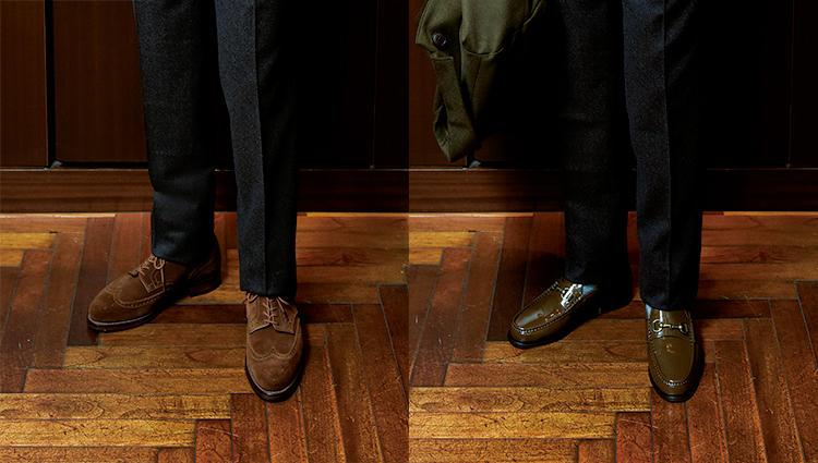 同じジャケパン、靴を変えたら印象はどれだけ変わる?