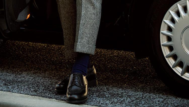 「パラブーツのドレスシャンボード」は、こんなスーツに似合う!【新時代・3足の勝ち靴】