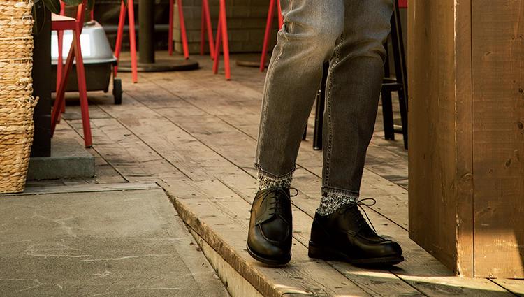 ワイルドな合わせを引き締める「パラブーツ」の黒【新時代・3足の勝ち靴】