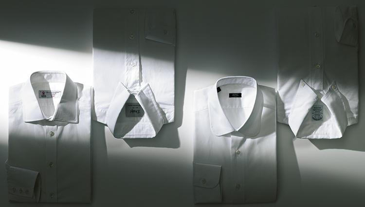 同じ白シャツでも、襟型によって印象はこんなに変わる!